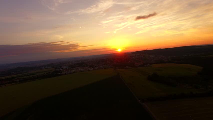 AERIAL: Flight over the corn field in sunrise. 4k   Shutterstock HD Video #17749360