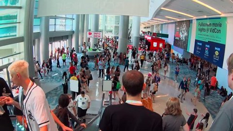Anaheim, CA - June 25: The 7th annual VidCon conference for YouTube creators, influencers, industry experts and fans at the Anaheim Convention Center in Anaheim, California on June 25, 2016