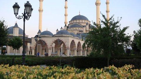 Mosque in Grozny. Chechen Republic. Heart of the chechen republic