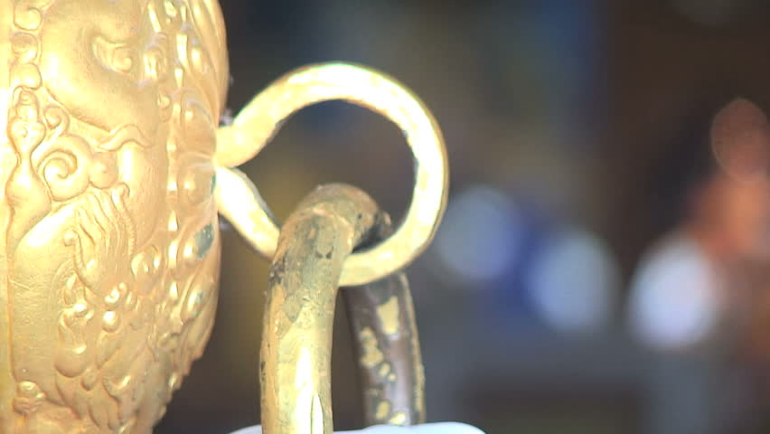 Focus from Door Handle Tibetan Buddha, India | Shutterstock HD Video #1779530