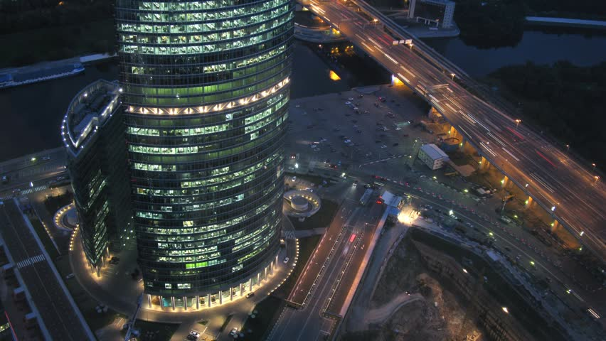 Naberezhnaya Tower or Quay Tower is an office complex near to Third transport ring, on August 30, 2011 in Moscow, Russia