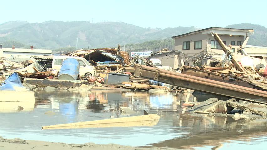 Tsunami Aftermath Destruction In Japan