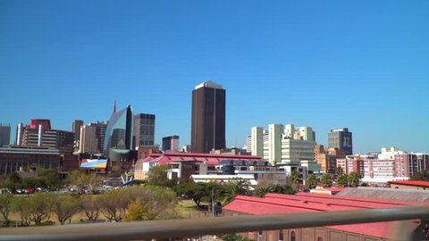 johannesburg skyline on south africa