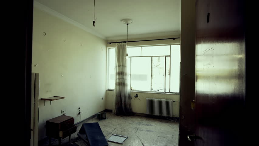 Empty Apartments Inside 4k empty evacuated deserted house apartment, interior track in.an