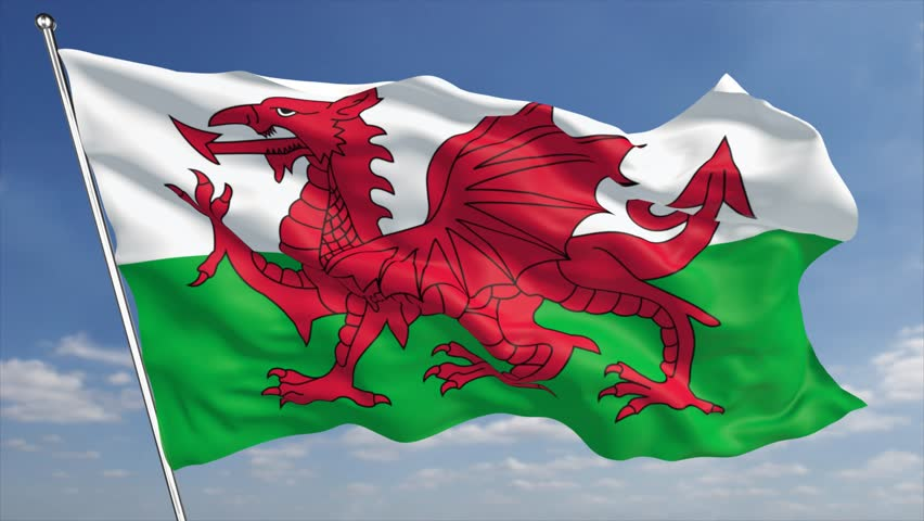 Wales Flag Stock Footage Video | Shutterstock