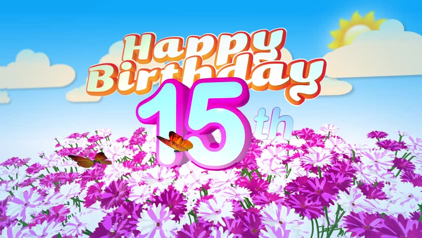 Animated Happy 35th Birthday Card Stock Footage Video 100 Royalty