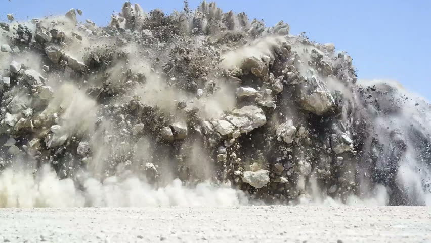 Explosion at open mine | Shutterstock HD Video #17955697