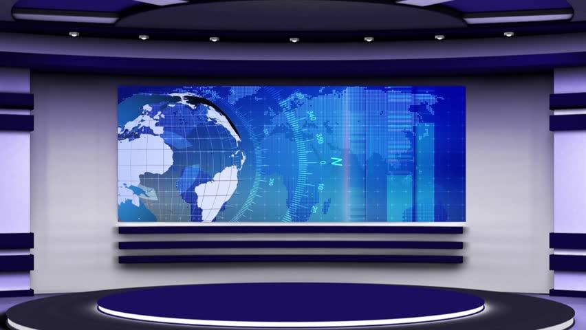 News Tv Studio Set - Stock Footage Video (100% Royalty-free) 17960860    Shutterstock