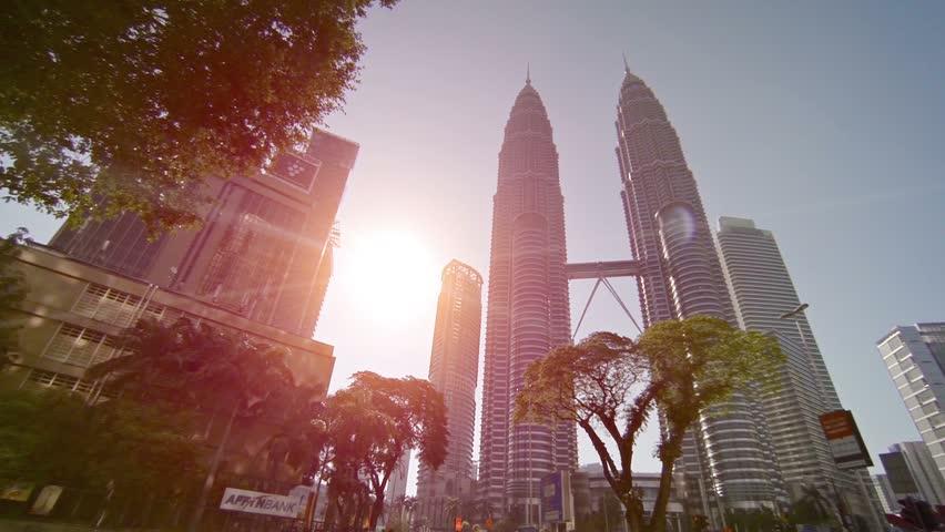 KUALA LUMPUR. MALAYSIA - CIRCA FEB 2015: Petronas Towers. is tallest buildings in Kuala Lumpur.