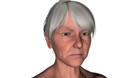 young woman morphing Into Grandmother