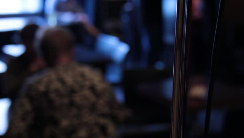 Microphone In Crowded Bar