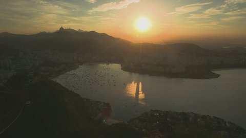 WS T/L City by sea at sunset / Rio De Janeiro, Brazil(Rio De Janeiro, Brazil - May, 2013)
