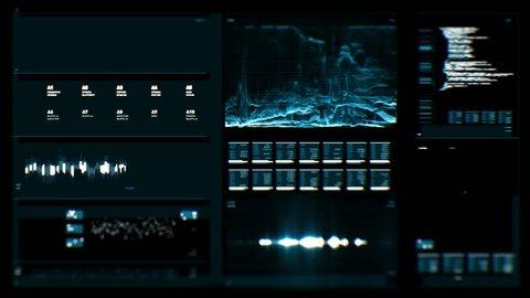 Futuristic digital interface screen