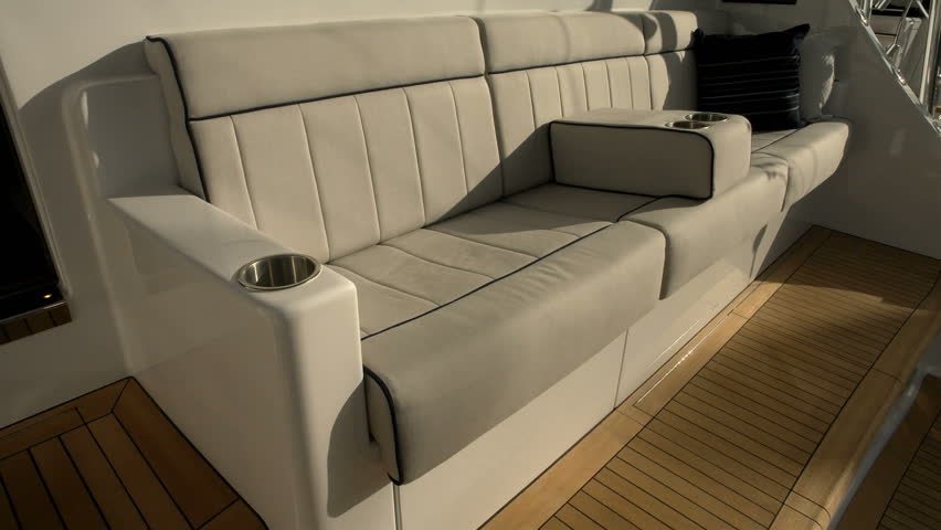 FEBRUARY 13: Sofa On Luxury Fishing Boat During Miami International Boat  Show On February 13, 2016 In Miami Stock Footage Video 18036400 |  Shutterstock