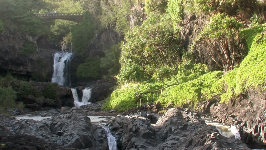 Haleakala national park seven pools near hana in maui hawaii haleakala national park seven pools near hana in maui hawaii river running to pacific ocean through a set of waterfalls and seven pools before hitting publicscrutiny Image collections