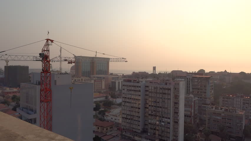 Modern Architecture Videos luanda, angola - june 2016; new and old buildings in downtown
