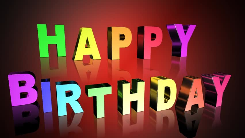 Happy Birthday Greeting Card Video Stock Footage Video 100