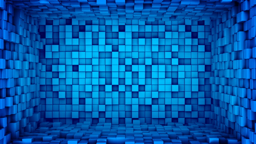Room of Blue Cubes Extruding  Stock Footage Video (100% Royalty-free)  18131380 | Shutterstock