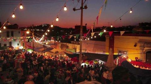 GUANAJUATO, MEXICO - DECEMBER 12: Celebration of Guadalupe Virgin in Guanajuato, Mexico on December 12, 2011.