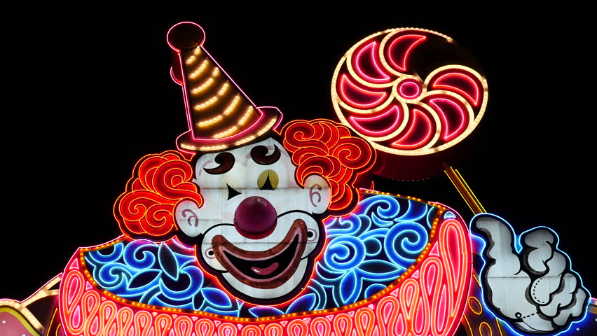 Circus Circus Casino Neon Sign at Night - Las Vegas - Circa July 2016