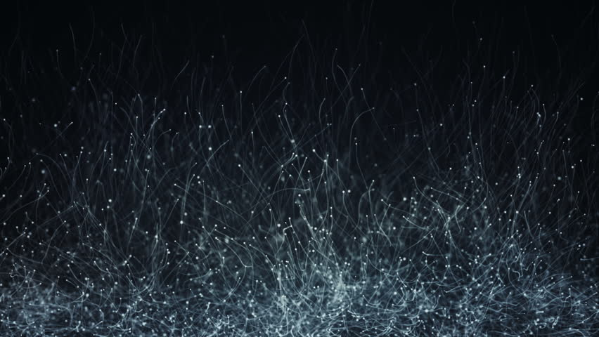 Abstract background with animation of slow moving particles. Animation of seamless loop. #18169120