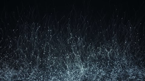 Abstract background with animation of slow moving particles. Animation of seamless loop.