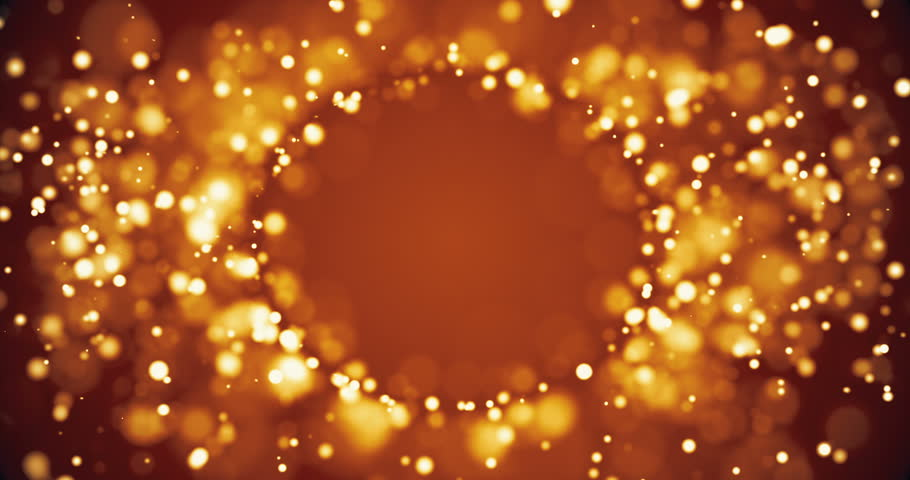 Abstract background with shining bokeh sparkles. Smooth animation looped. With a central place for your logo\text. Abstract golden bokeh particles seamless loop | Shutterstock HD Video #18221770