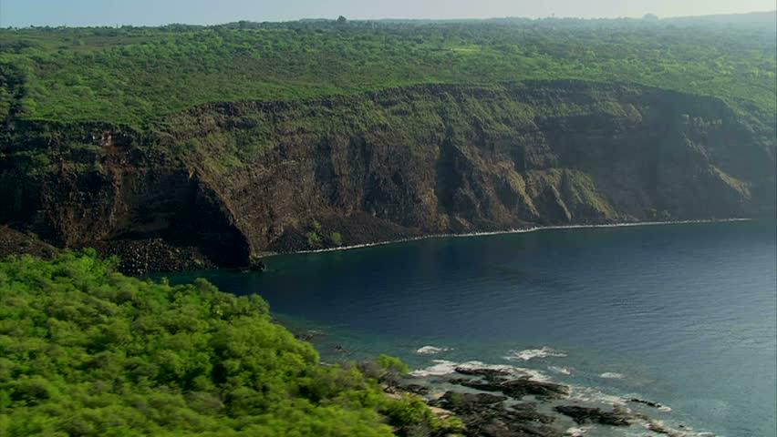 Aerial of Kealakekua Bay, Hawaii