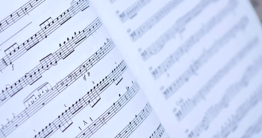 Close up on Retro - Old Music Notes. | Shutterstock HD Video #18273640
