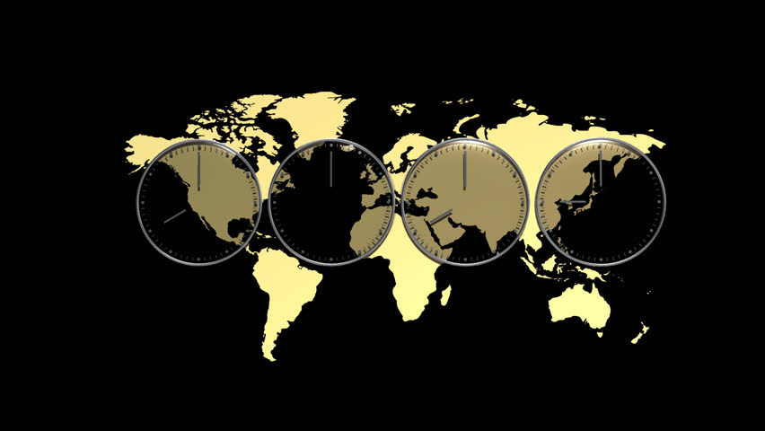 Gold world map made of polygonal triangles on black background world difference in time clock fix hd stock footage clip gumiabroncs Gallery
