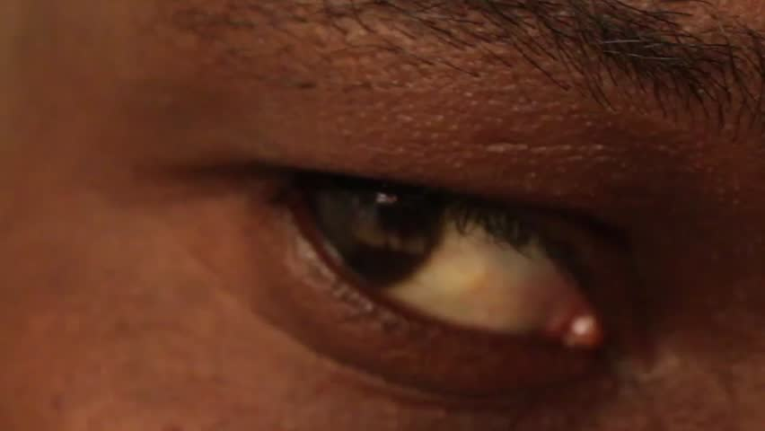African American Male Eye Close Up | Shutterstock HD Video #18388660
