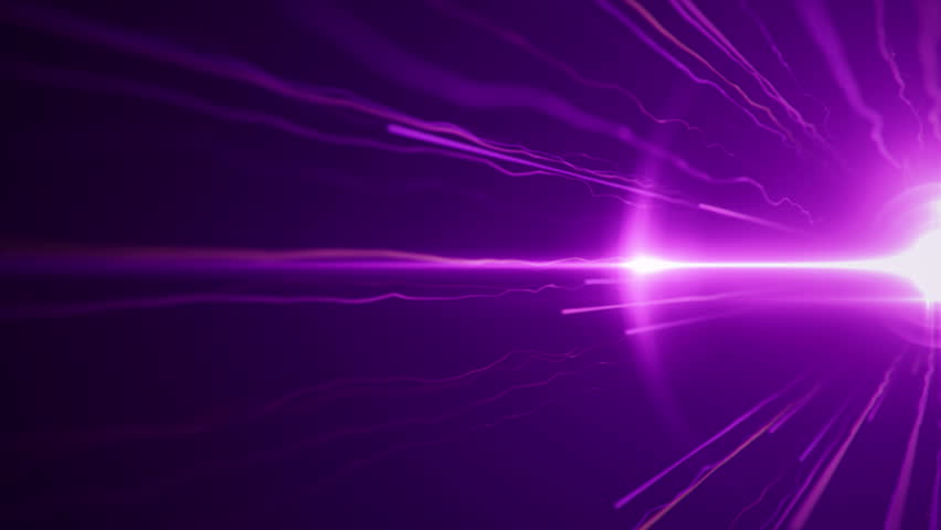 Abstract motion background with fast flying of light streaks. Animation of seamless loop. #18454660