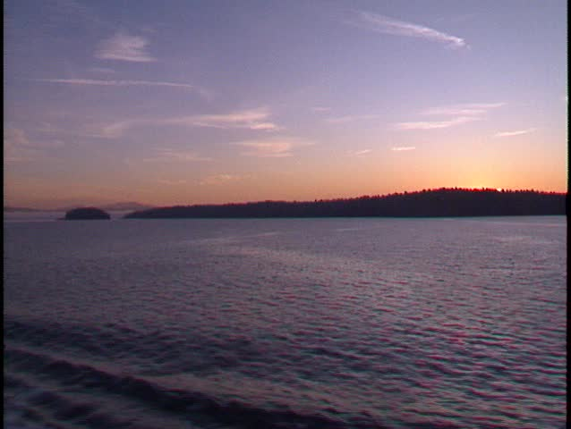 sunrise on gulf islands zoom in. (BetaSP) - SD stock video clip