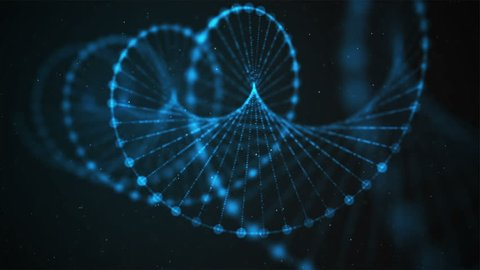 Creative animation of DNA UHD with alpha