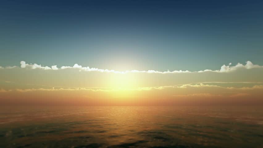 sunset over ocean #18548267