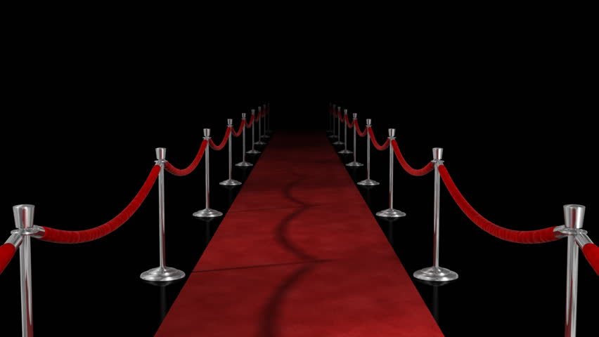 Award Ceremony Red Carpet Loop V Alpha Channel 3d