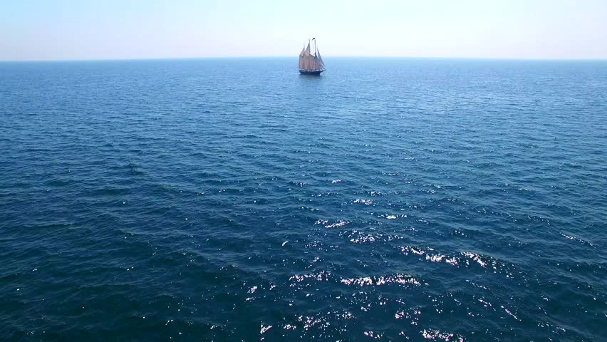 Tall Ship at Sea, Majestic Stock Footage Video (100% Royalty-free ...