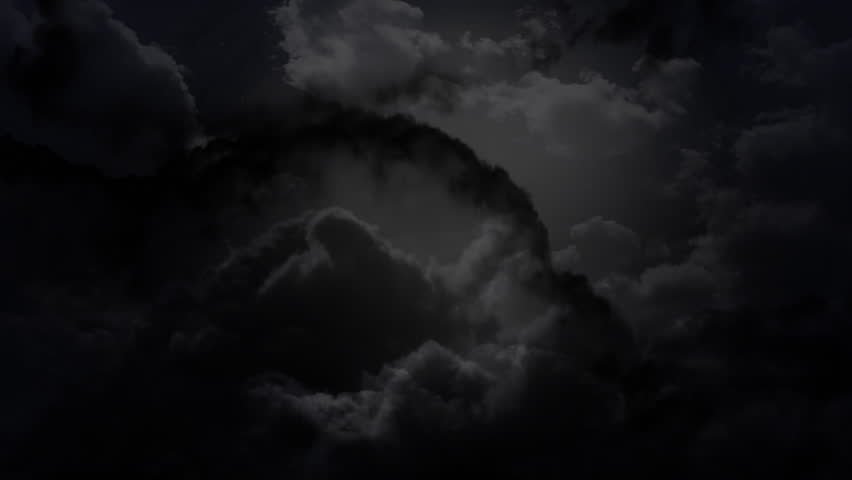 the cloudy dark sky animation