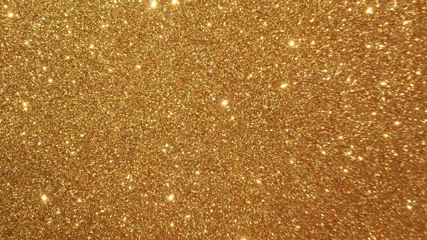 Stock Video Of Moving Golden Glitter Lights