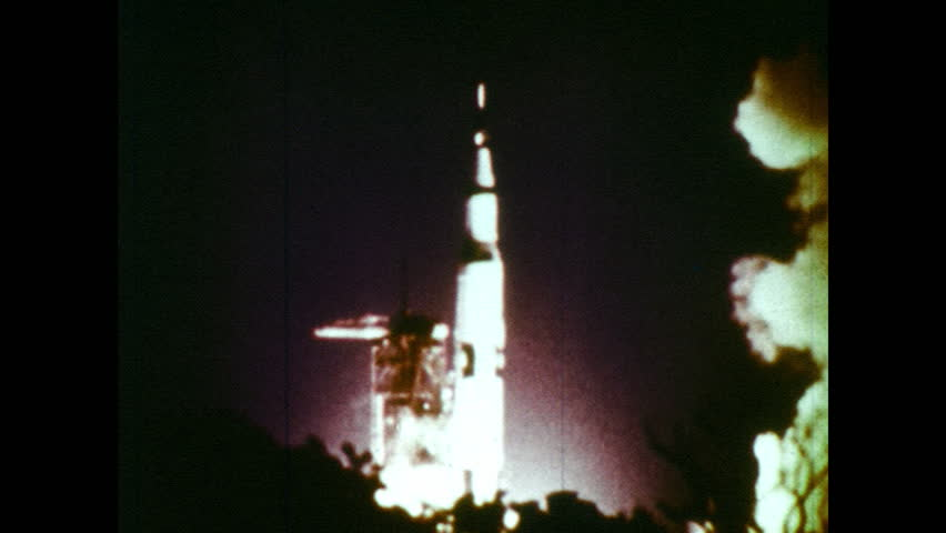 UNITED STATES 1960s: Footage of rocket launching / Dissolve, view from rocket in space, cylinder separates from rocket. | Shutterstock HD Video #18658730