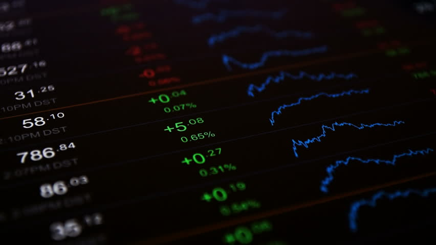 Financial Stock Chart Background Online Trading Concept