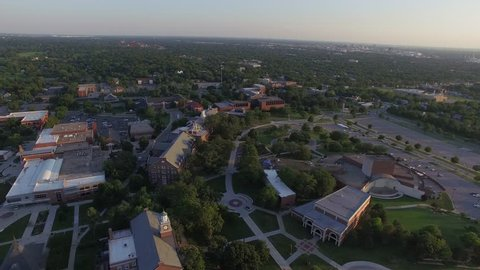 Aerial view of Wichita State University's campus, located in Wichita, Kansas