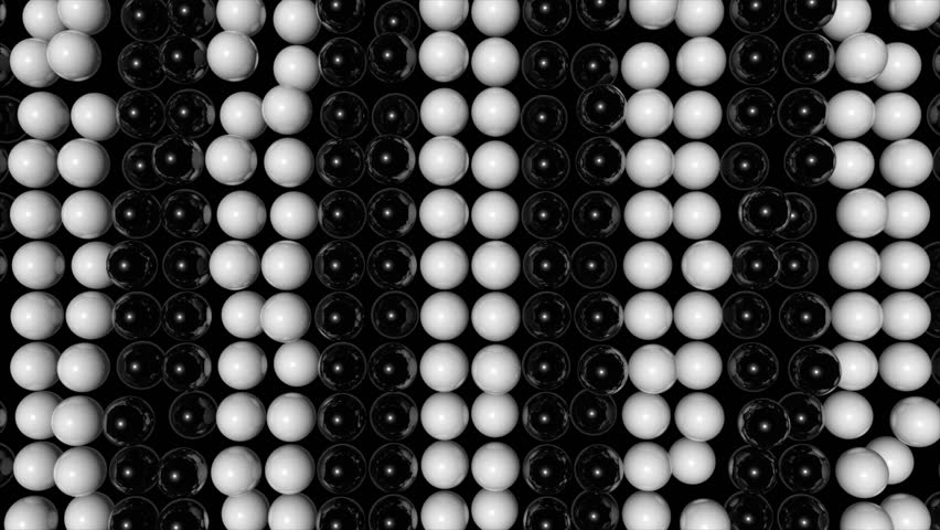 Abstract random animated background with black and white spheres. Seamless loop | Shutterstock HD Video #18799850