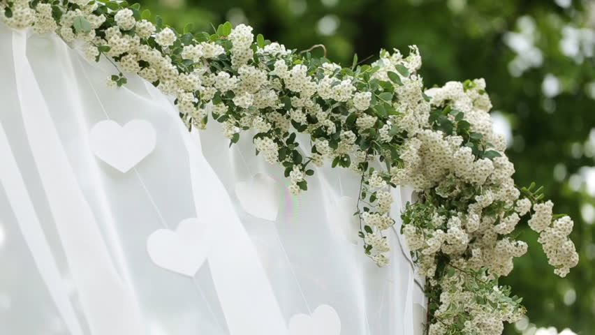 Wedding flower arch decoration wedding arch decorated with wedding flower arch decoration wedding arch decorated with flowers stock footage video 18847970 shutterstock junglespirit Choice Image
