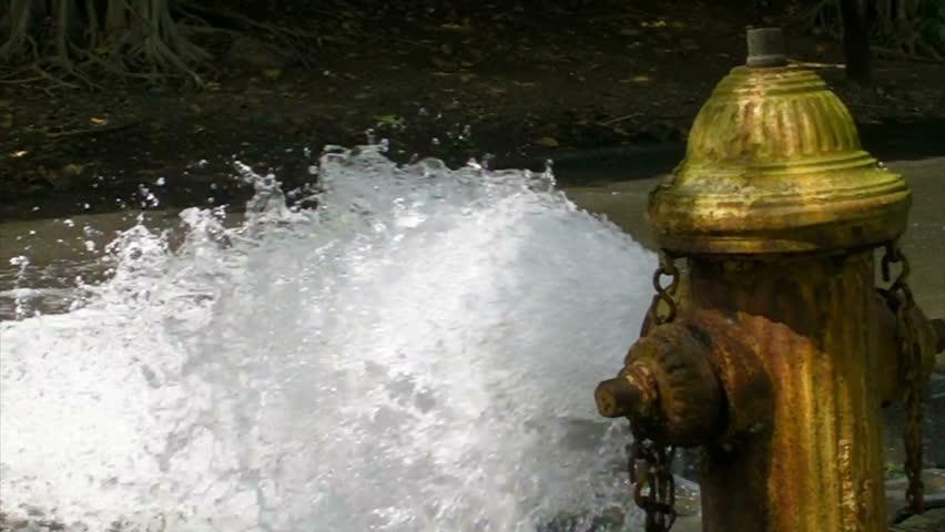 Open Fire Hydrant