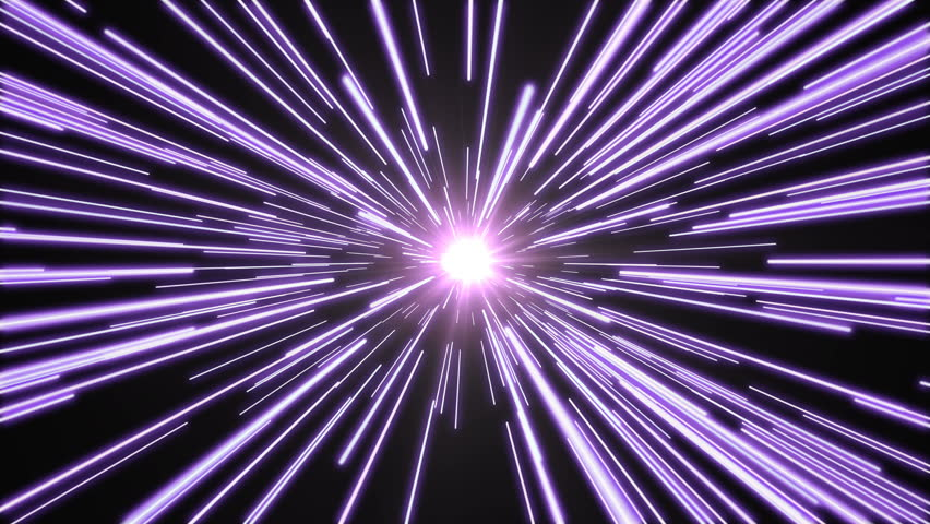 Stars flying past at high speed, with a bright white light at the end. Purple version. Seamlessly loopable animation. | Shutterstock HD Video #18970210