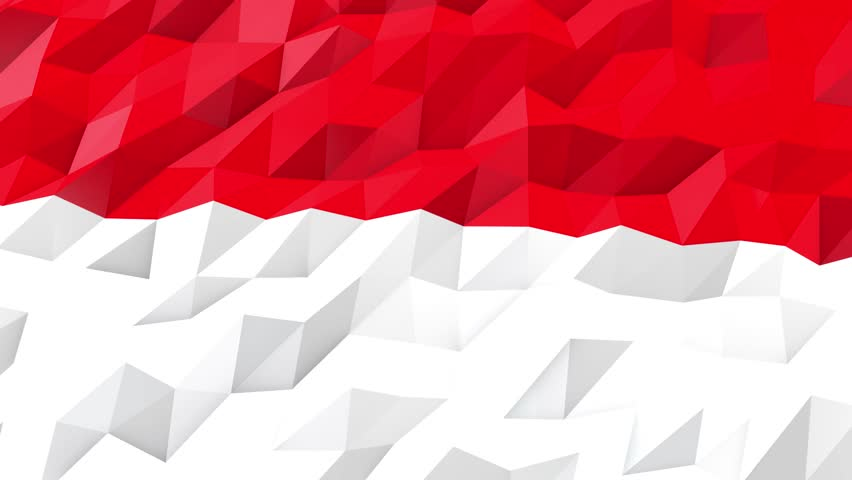Flag Of Indonesia 3d Wallpaper Stock Footage Video 100 Royalty