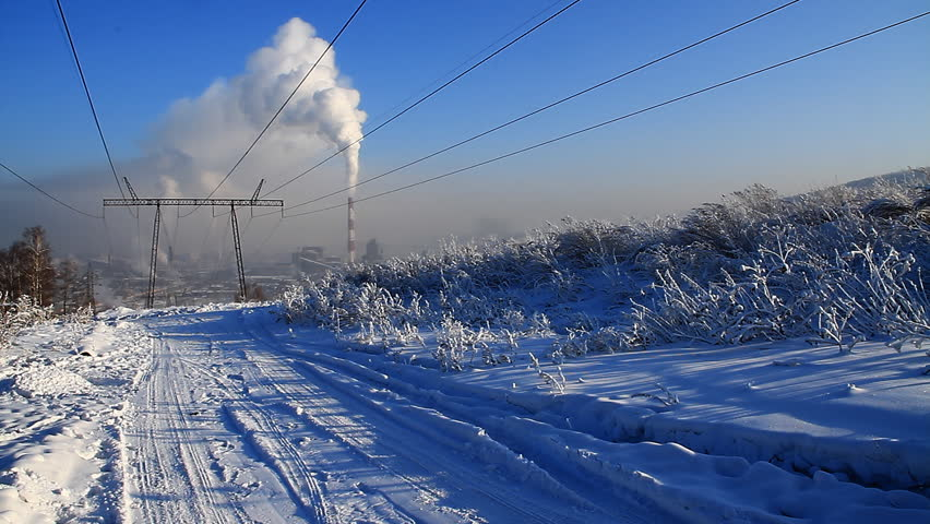 Coal fired power station and power line