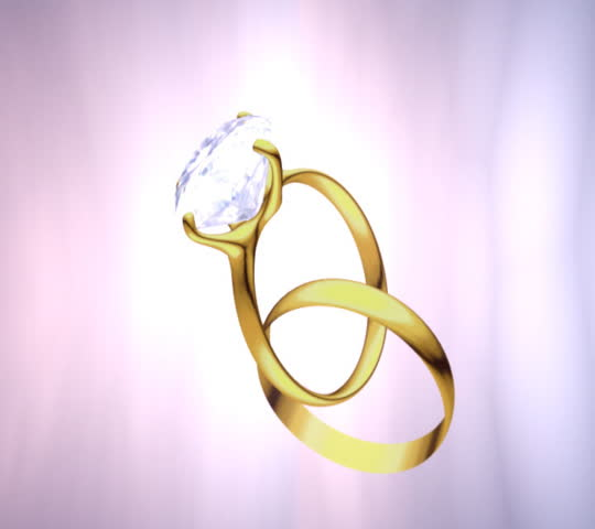 Stock Video Clip Of Animated Wedding Rings