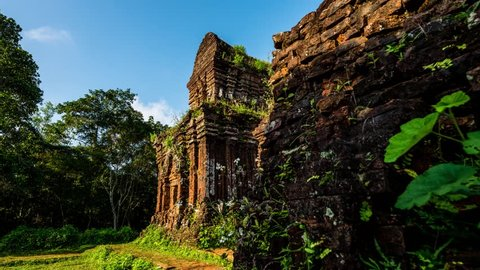 Ruins of hindu temples at My Son in central Vietnam